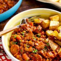 One Pot Sausage and Lentil Casserole