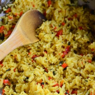 Red Pepper and Coriander Rice