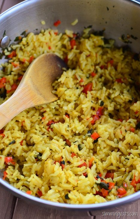 Slimming Eats Red Pepper and Coriander Rice - gluten free, dairy free, vegetarian, Slimming World and Weight Watchers friendly