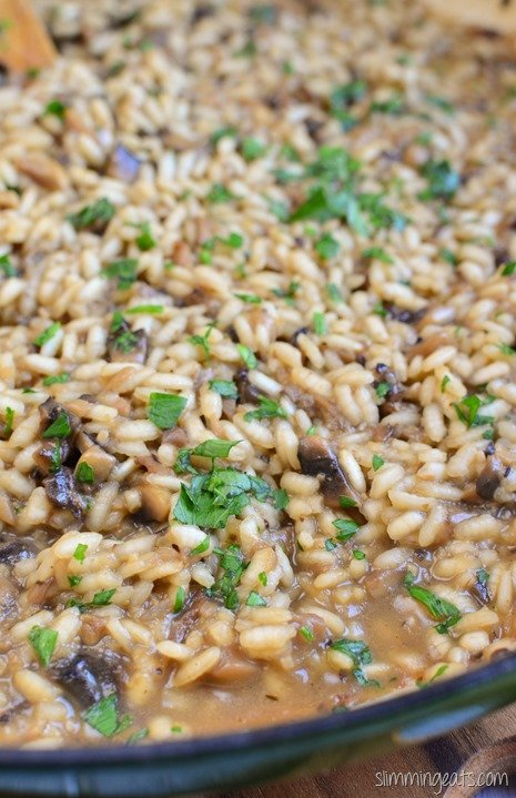Slimming Eats Mushroom Risotto - gluten free, vegetarian, Slimming World and Weight Watchers friendly