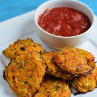 Cheesy Sweet Potato and Zucchini Bites