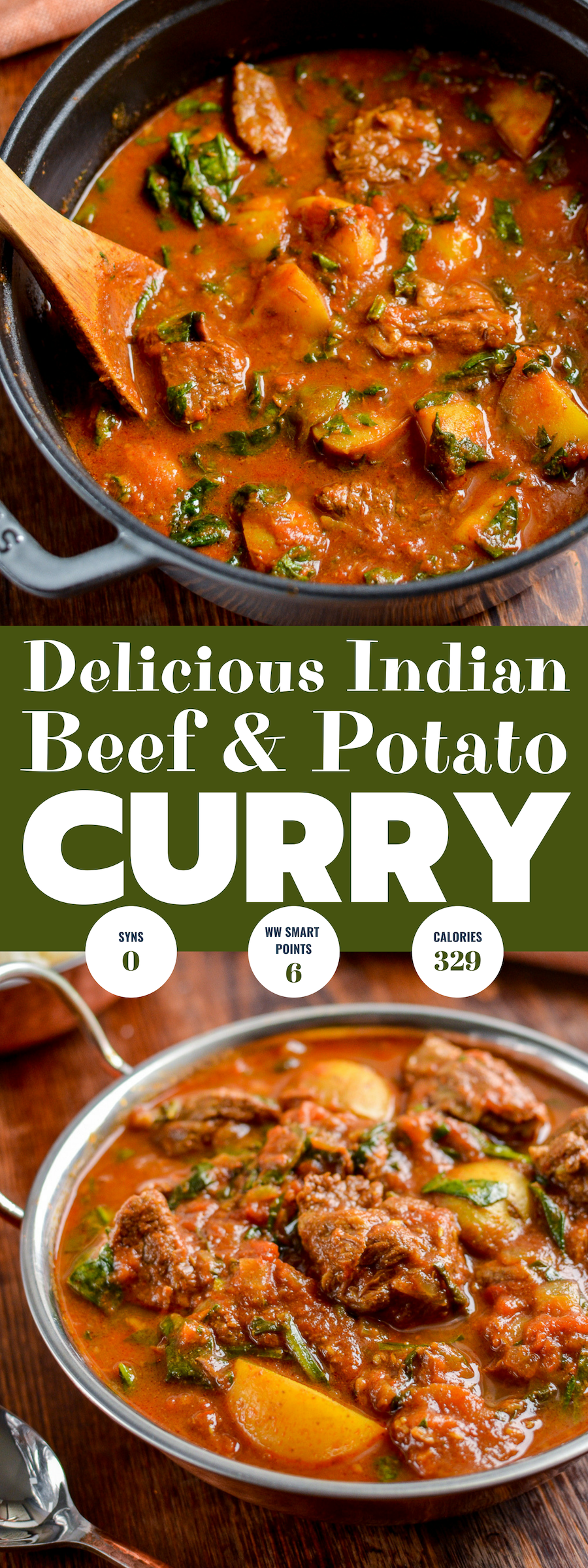 beef and potato curry pin image
