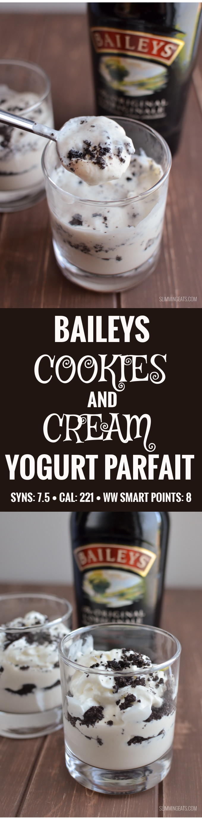 Slimming Eats Baileys Cookies and Cream Yogurt Parfait - Slimming World and Weight Watchers friendly