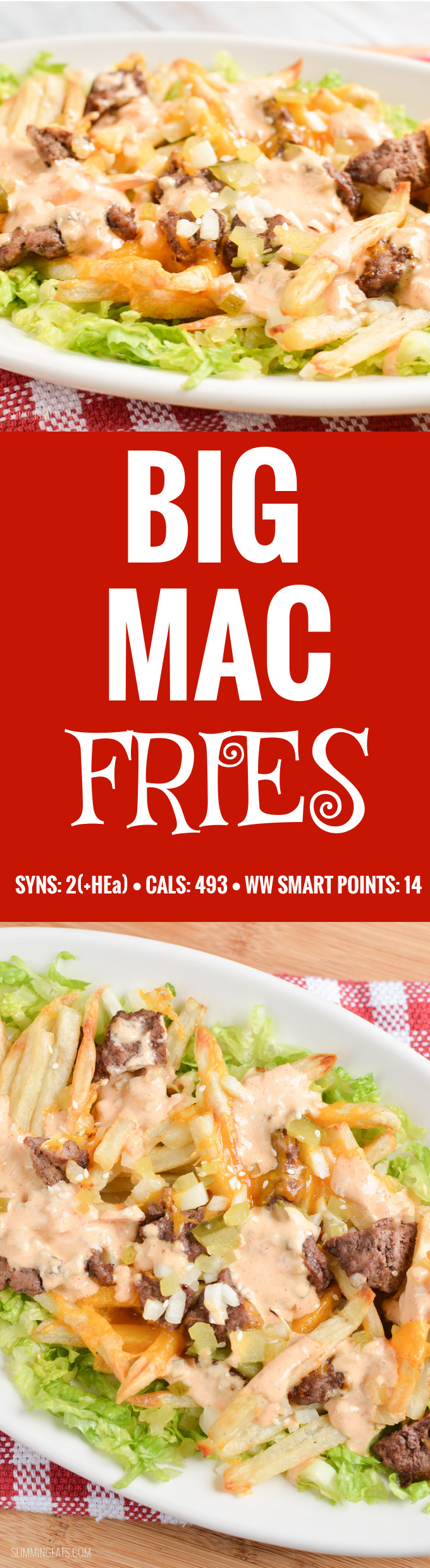 Slimming Eats Big Mac Fries - gluten free, Slimming World and Weight Watchers friendly