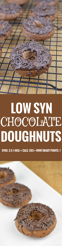 Slimming Eats Chocolate Doughnuts - gluten free, vegetarian, Slimming World and Weight Watchers friendly