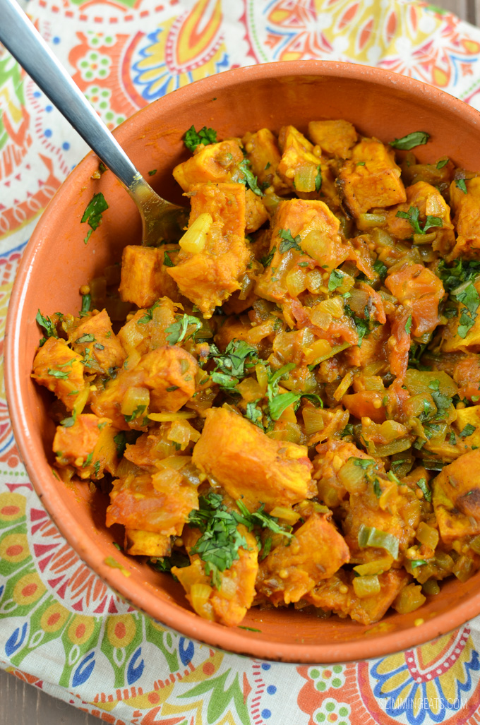 Slimming Eats Bombay Butternut Squash - gluten free, dairy free, vegetarian, paleo, Whole30, Slimming World and Weight Watchers friendly