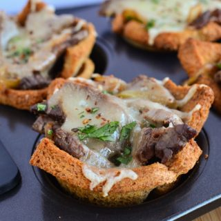 Philly Cheese Steak Toast Cups