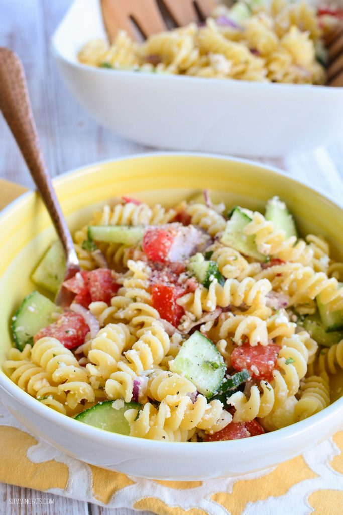 Greek Pasta Salad | Slimming Eats - Slimming World Recipes