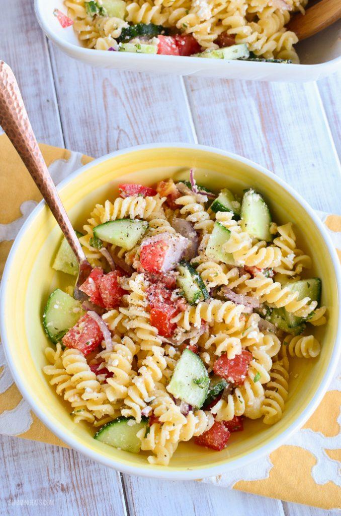 Greek Pasta Salad Slimming Eats Slimming World Recipes