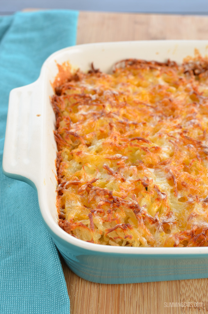 Slimming Eats Cheesy Sausage and Egg Hash Brown Casserole - gluten free, paleo, Slimming World and Weight Watchers friendly