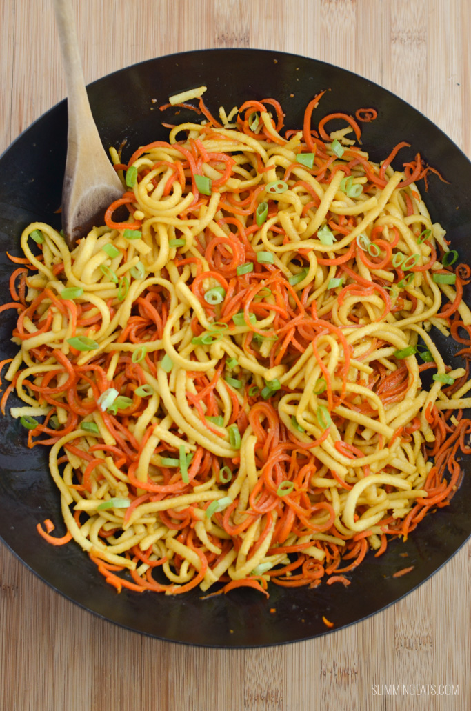 Slimming Eats Garlic Sesame Carrot and Noodles - dairy free, vegetarian, Slimming World and Weight Watchers friendly