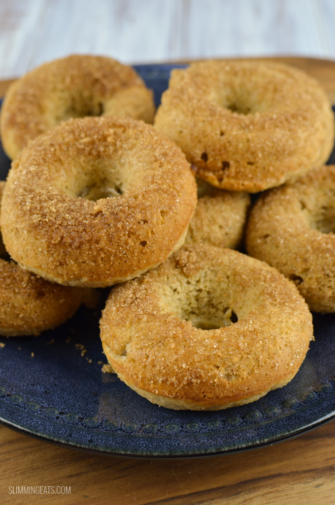 Slimming Eats Slimming World Baked Banana Doughnuts - gluten free, vegetarian, Slimming World and Weight Watchers friendly