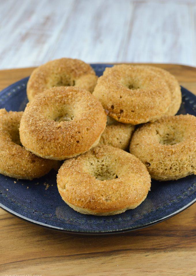 Slimming Eats Baked Banana Doughnuts - gluten free, vegetarian, Slimming World and Weight Watchers friendly