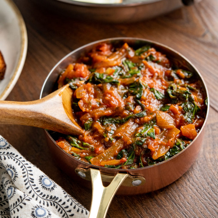 Balsamic Tomatoes and Spinach