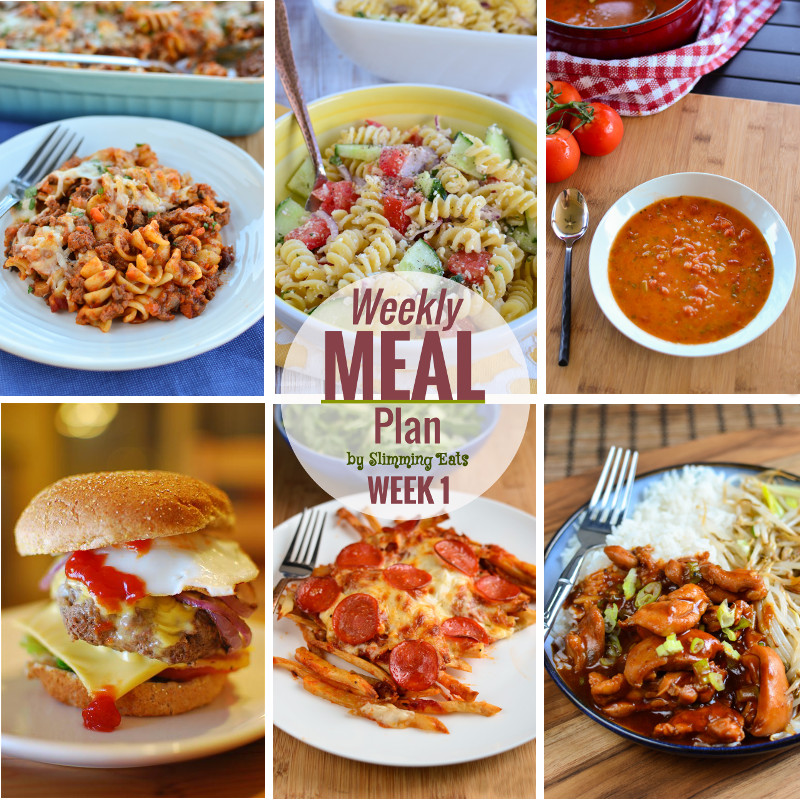 Slimming eats weekly meal plan week 1 slimming world Simple slimming world meals