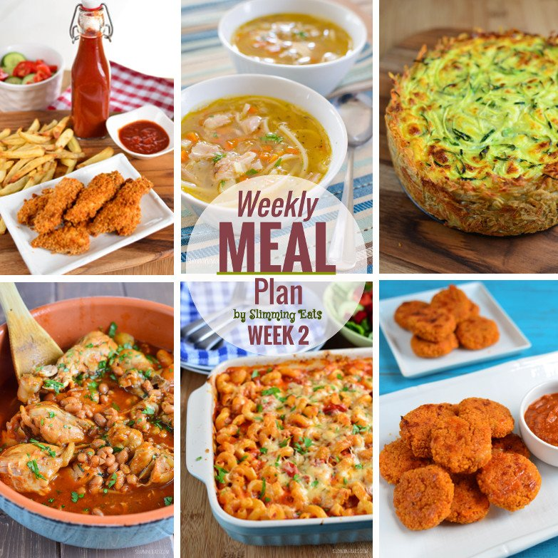 Slimming eats weekly meal plan week 2 slimming world Simple slimming world meals