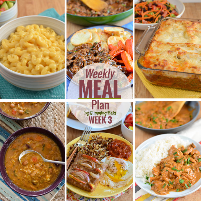 Slimming eats weekly meal plan week 3 slimming world Slimming world meal ideas