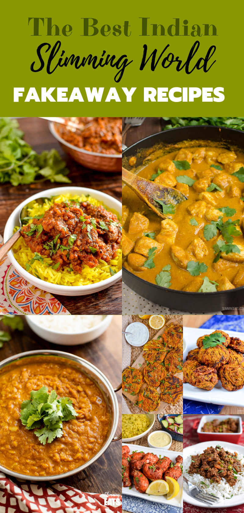 collage of The Best Slimming World Indian Fakeaway recipes pin