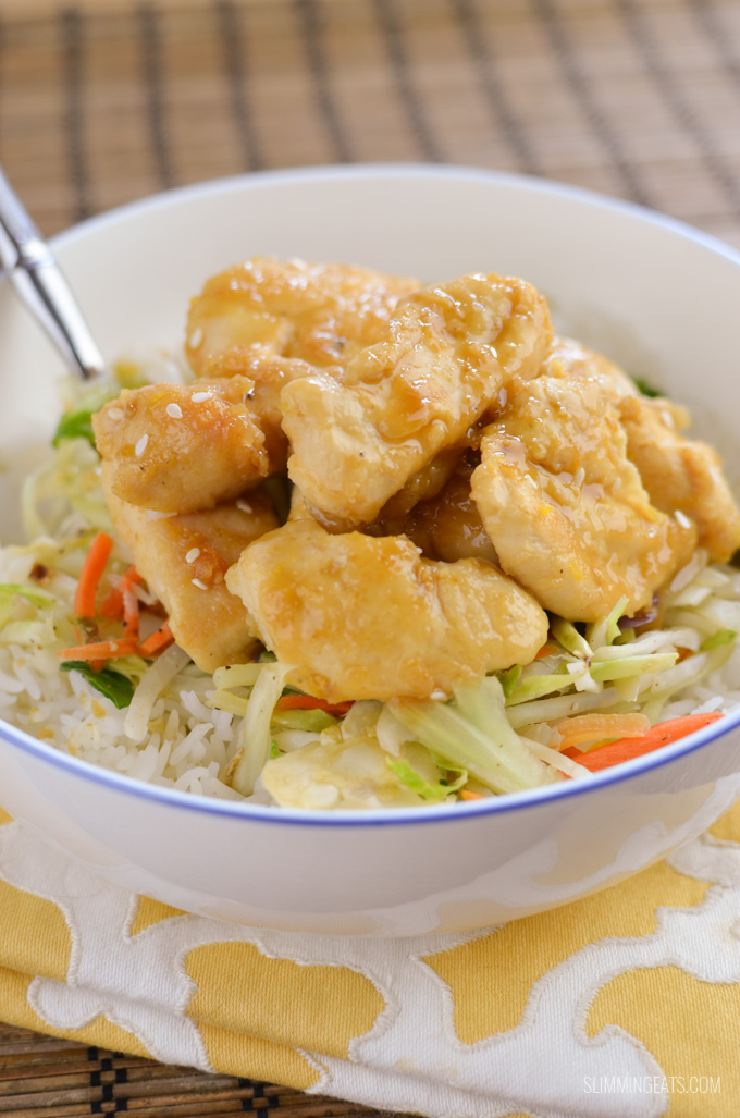 Slimming Eats Chinese Lemon Chicken - gluten free, dairy free, paleo, Slimming World and Weight Watchers friendly