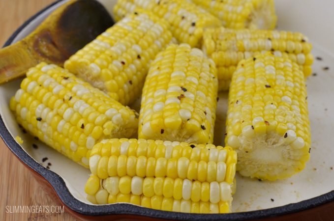 Slimming Eats Buttered Corn on the Cob - gluten free, vegetarian, Slimming World and Weight Watchers friendly