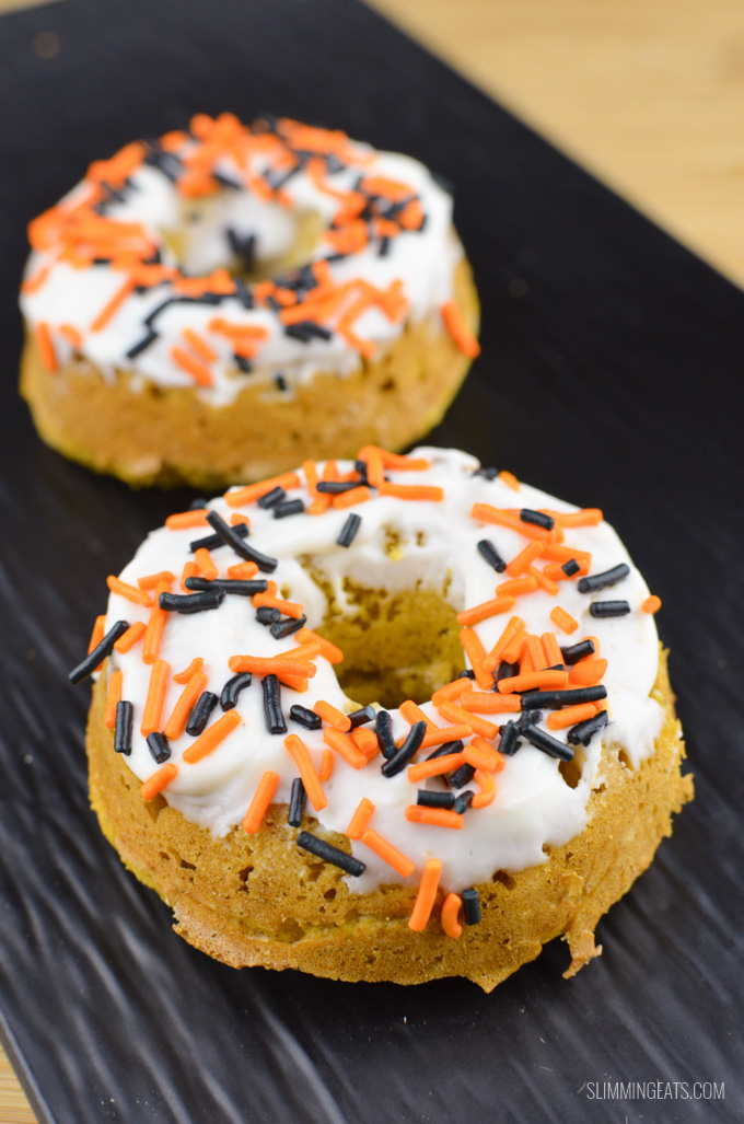 Slimming Eats Pumpkin Oatmeal Doughnuts - gluten free, vegetarian, Slimming World and Weight Watchers friendly