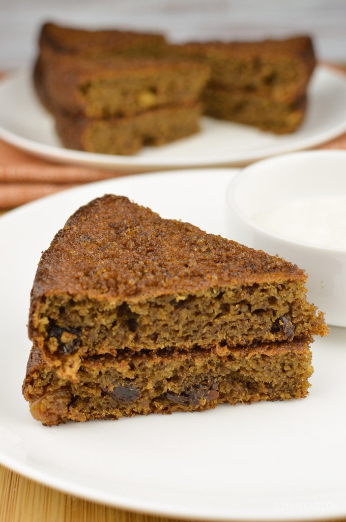 Slimming Eats Sultana Weetabix Cake - vegetarian, Slimming World and Weight Watchers friendly