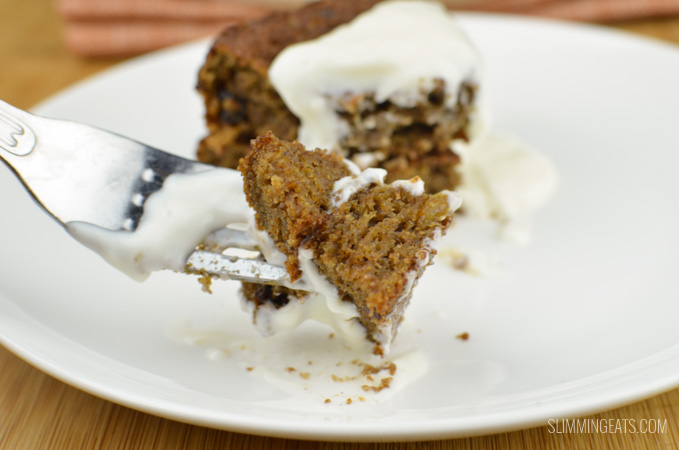 Slimming Eats Sultana Weetabix Cake - vegetarian, Slimming World and Weight Watchers friendly