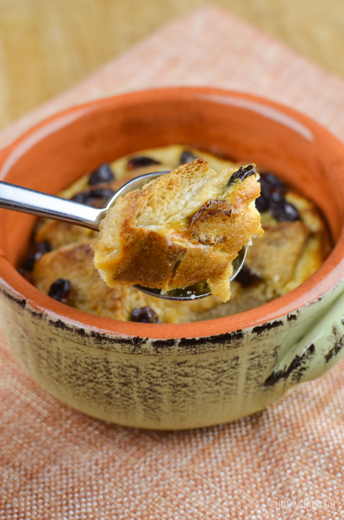 Slimming Eats Low Syn Bread and Butter Pudding - vegetarian, Slimming World and Weight Watchers friendly