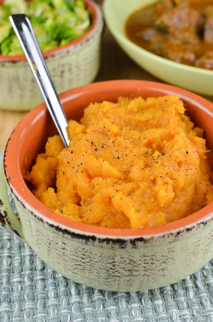Slimming Eats Syn Free Sweet Potato Mash - gluten free, dairy free, paleo, vegetarian, Whole30, Slimming World and Weight Watchers friendly