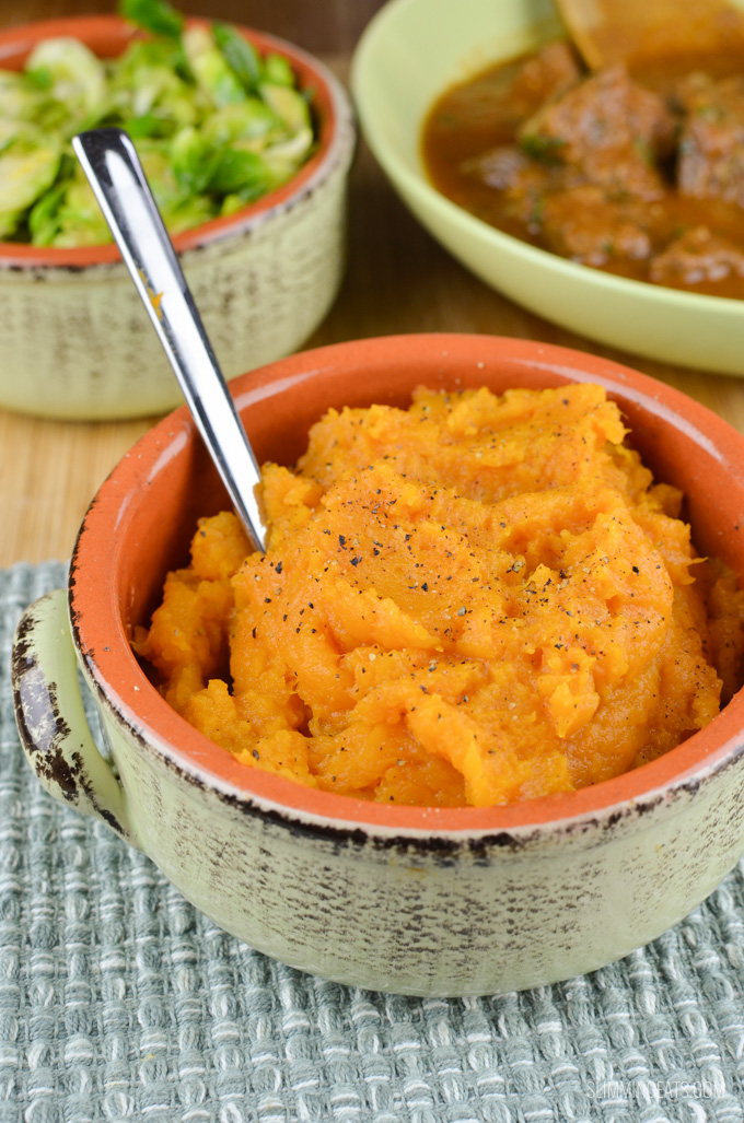 Slimming Eats Syn Free Sweet Potato Mash - gluten free, dairy free, paleo, vegetarian, Whole30, Slimming World and Weight Watchers friendly