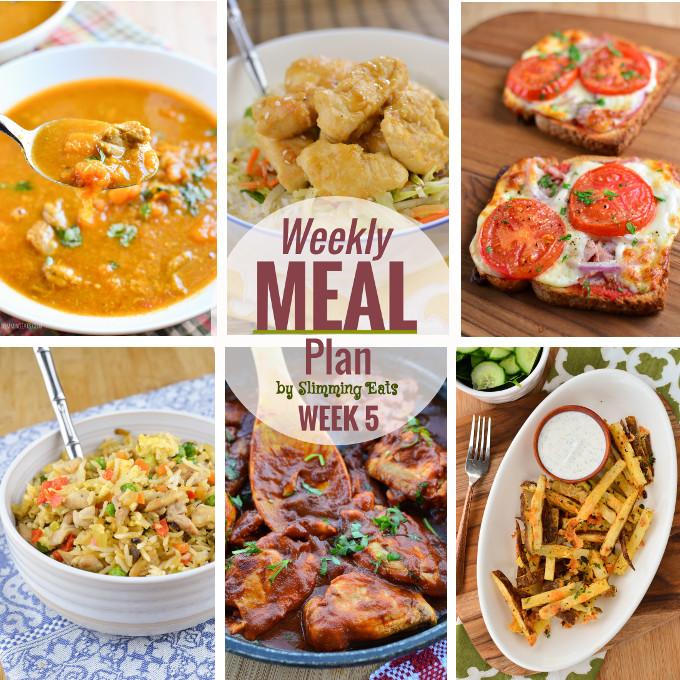 Slimming Eats Weekly Meal Plan - Week 5