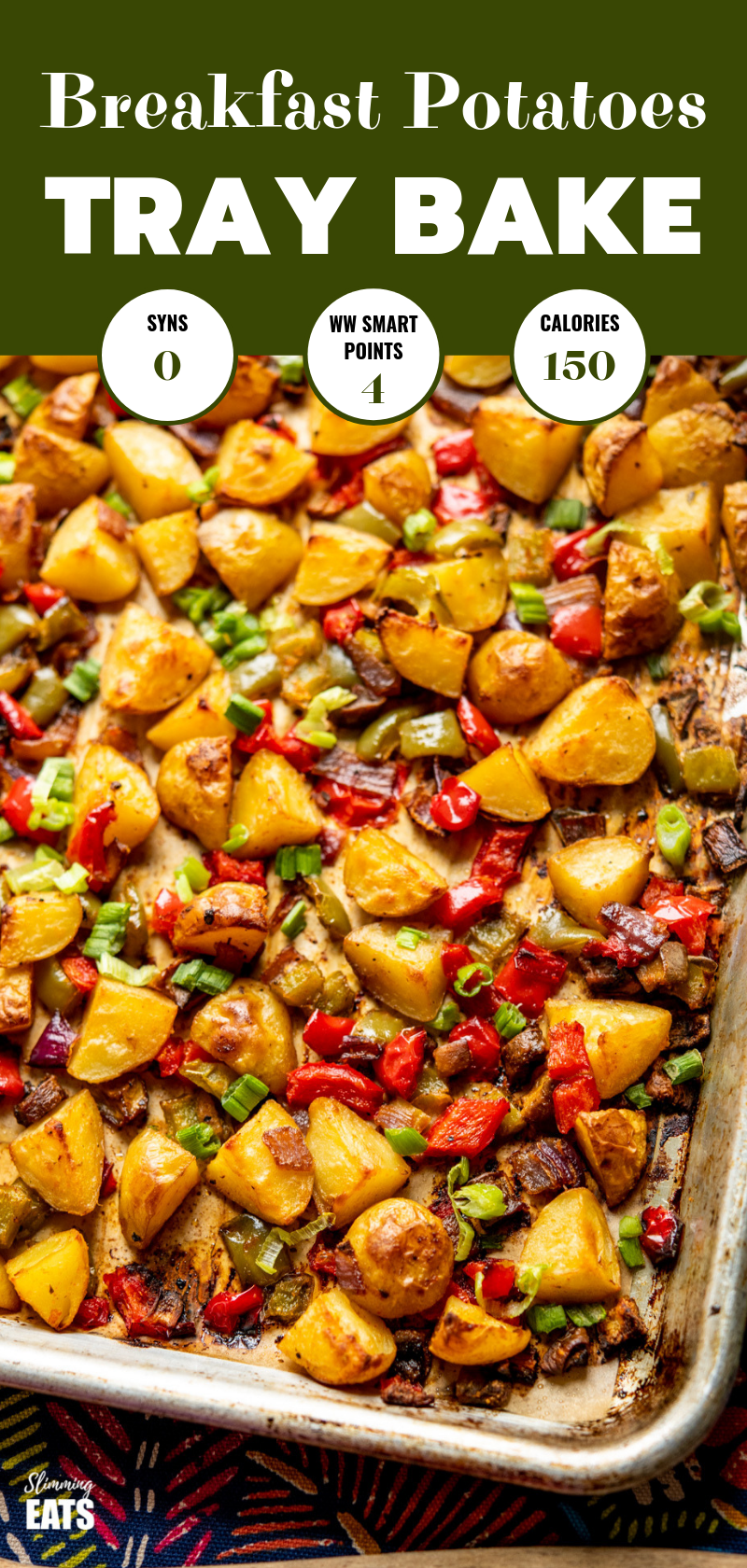 syn free breakfast potatoes on tray pin