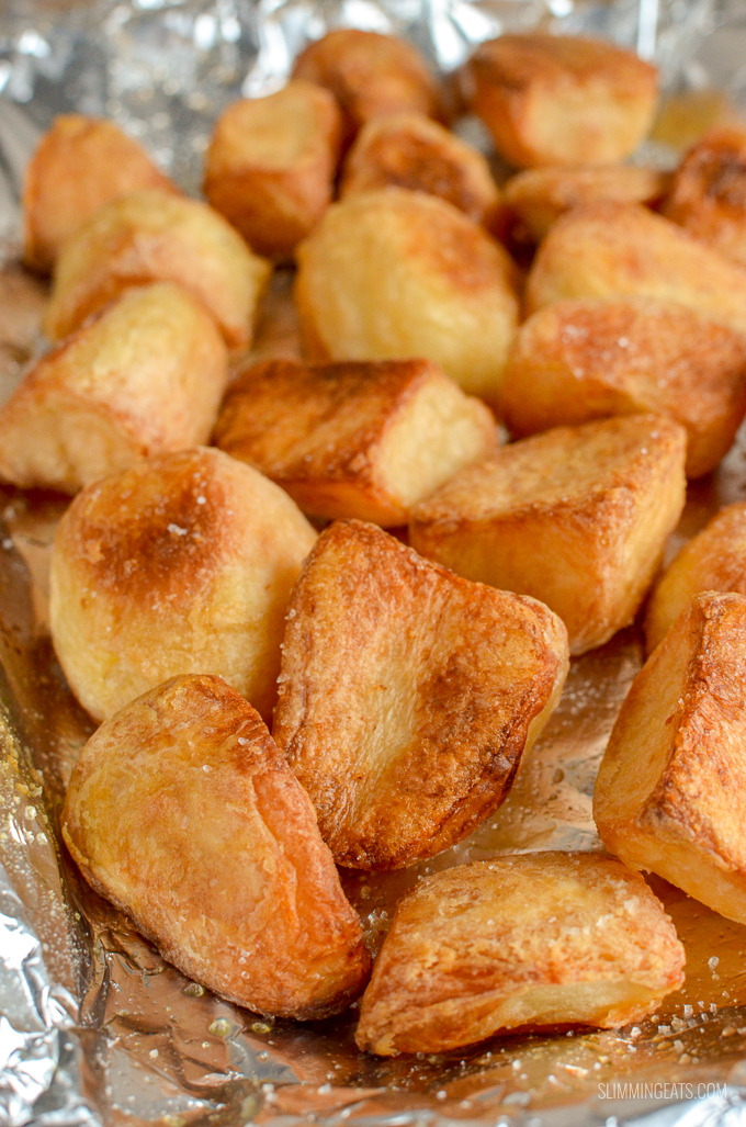 Slimming Eats Best Ever Syn Free Roast Potatoes - gluten free, dairy free, vegetarian, Slimming World and Weight Watchers friendly