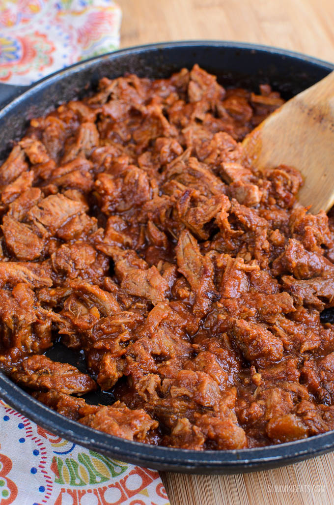 Slimming Eats Stove Top Low Syn Pulled Pork - gluten free, dairy free, paleo, Slimming World and Weight Watchers friendly