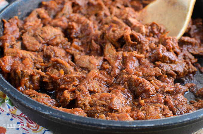 Slimming Eats Stove Top Low Syn Pulled Pork- gluten free, dairy free, paleo, Slimming World and Weight Watchers friendly