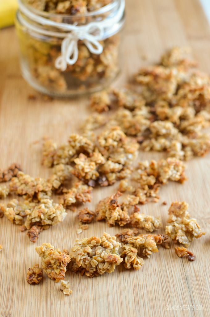 Slimming Eats Low Syn Healthy Banana Granola - gluten free, dairy free, vegetarian, Slimming World and Weight Watchers friendly