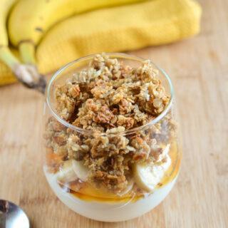 Banana Granola Yoghurt Parfait
