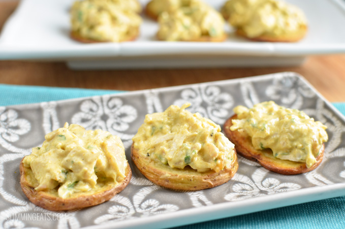 Slimming Eats Coronation Chicken Bites - gluten free, Slimming World and Weight Watchers friendly