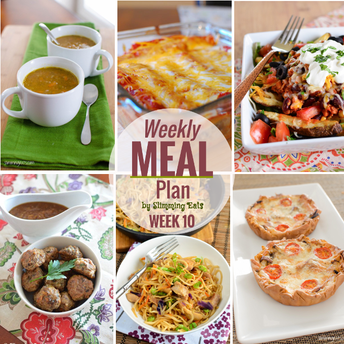 Slimming Eats Weekly Meal Plan – Week 10