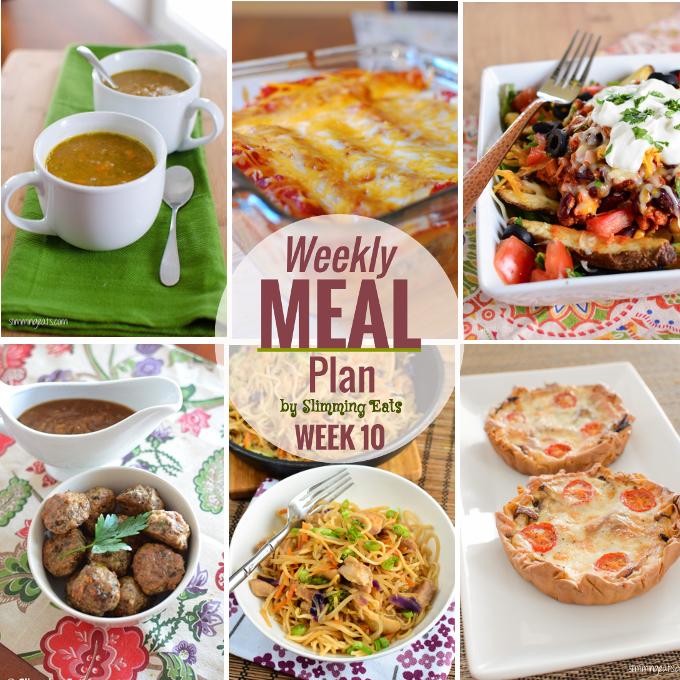 Slimming Eats Weekly Meal Plan - Week 10 - Slimming World