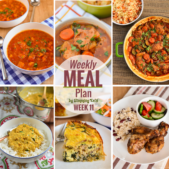 Slimming eats weekly meal plan week 11 slimming world recipes Slimming world meal ideas