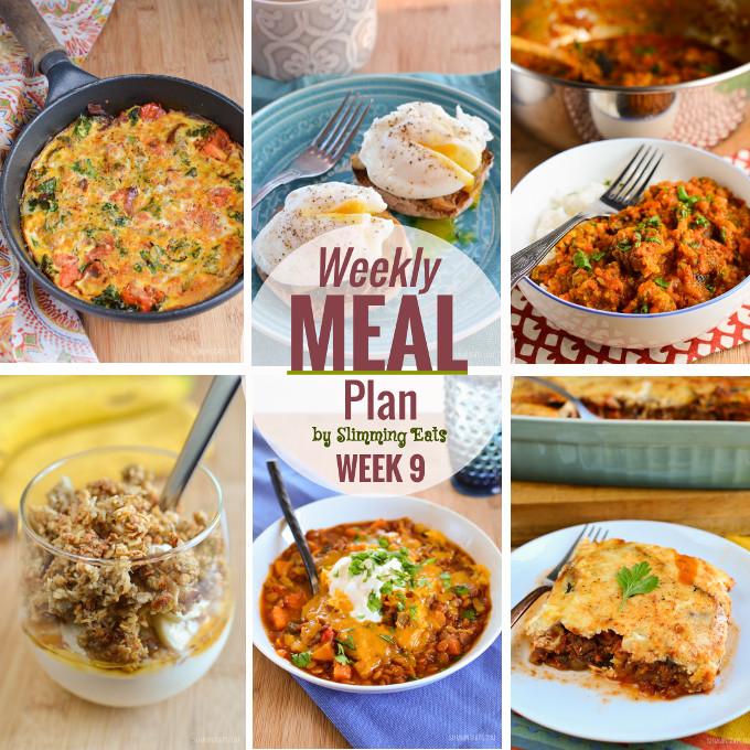 Slimming Eats Weekly Meal Plan - Week 9
