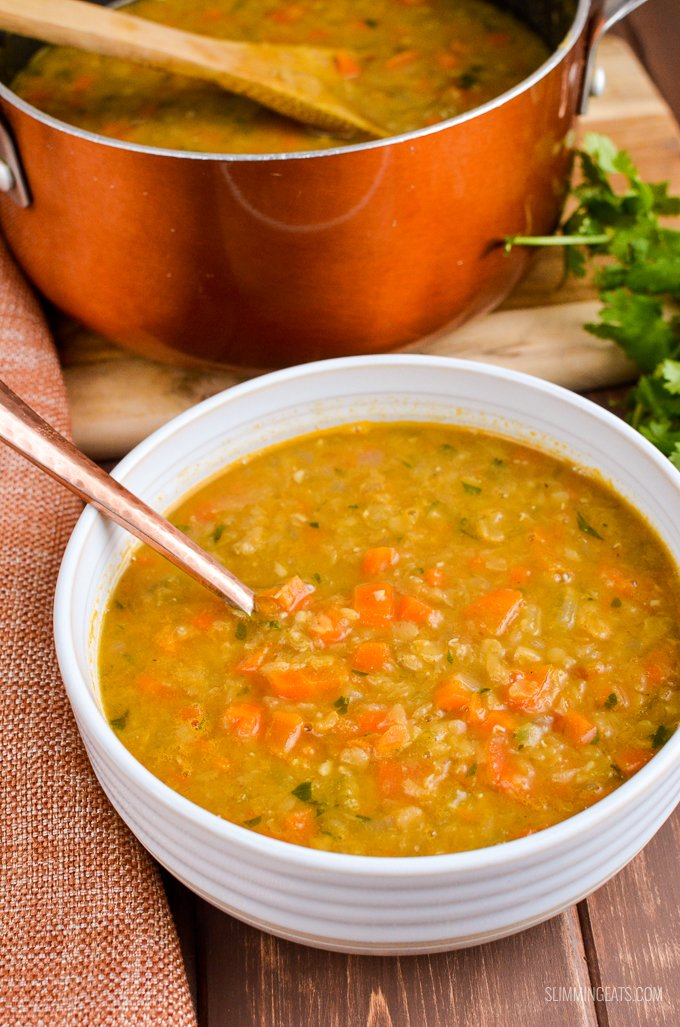 Slimming Eats Syn Free Spicy Carrot and Lentil Soup - gluten free, dairy free, vegan, Instant Pot, Slimming World and Weight Watchers friendly