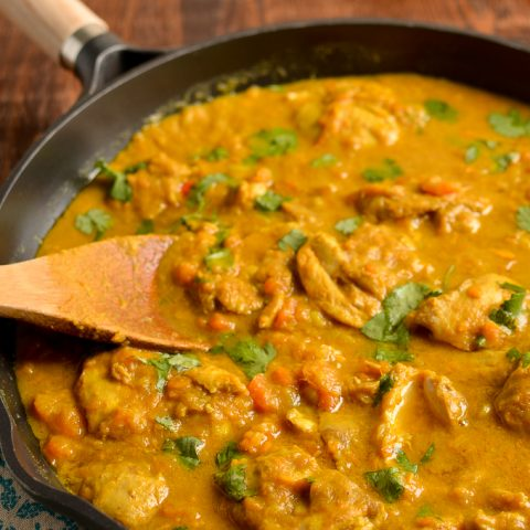 Coconut Chicken and Sweet Potato Curry (Stove Top and Instant Pot)
