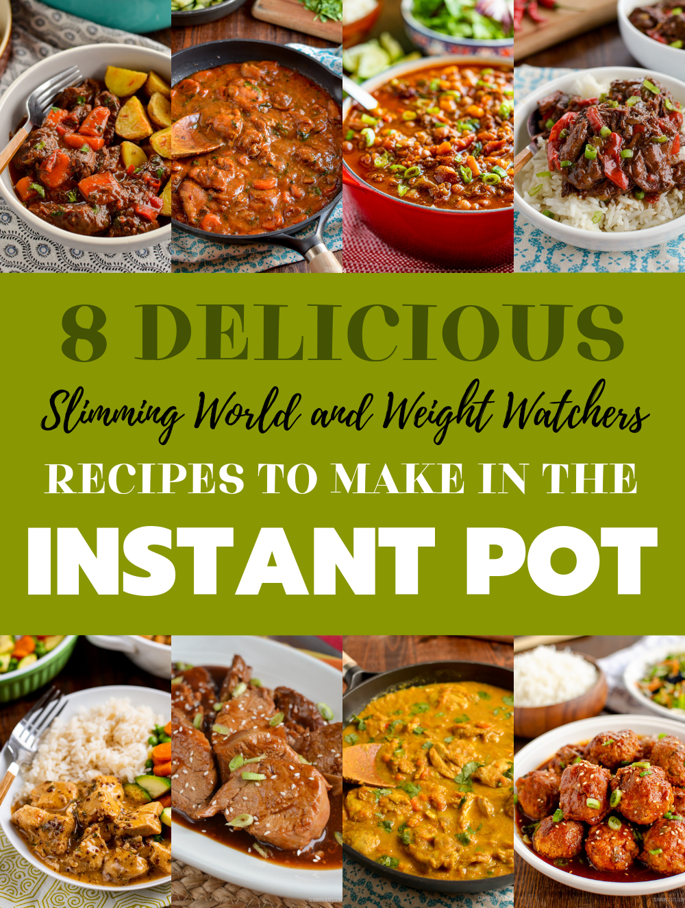 slimming world and weight watchers instant pot recipes