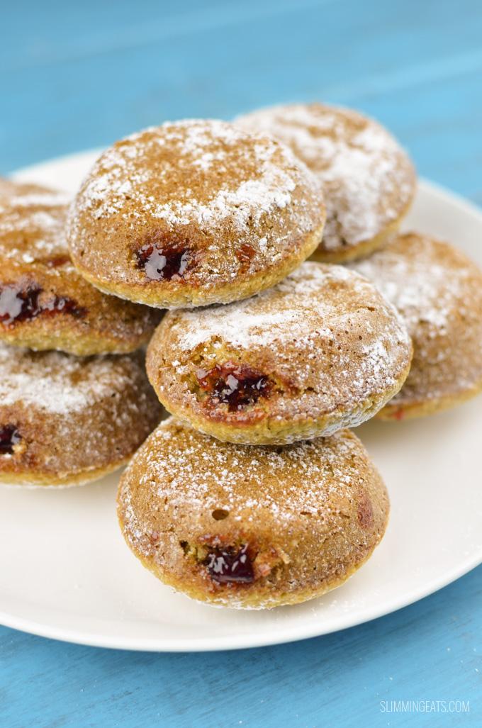 Slimming Eats Gluten Free Jam Doughnuts - gluten free, vegetarian, Slimming World and Weight Watchers friendly