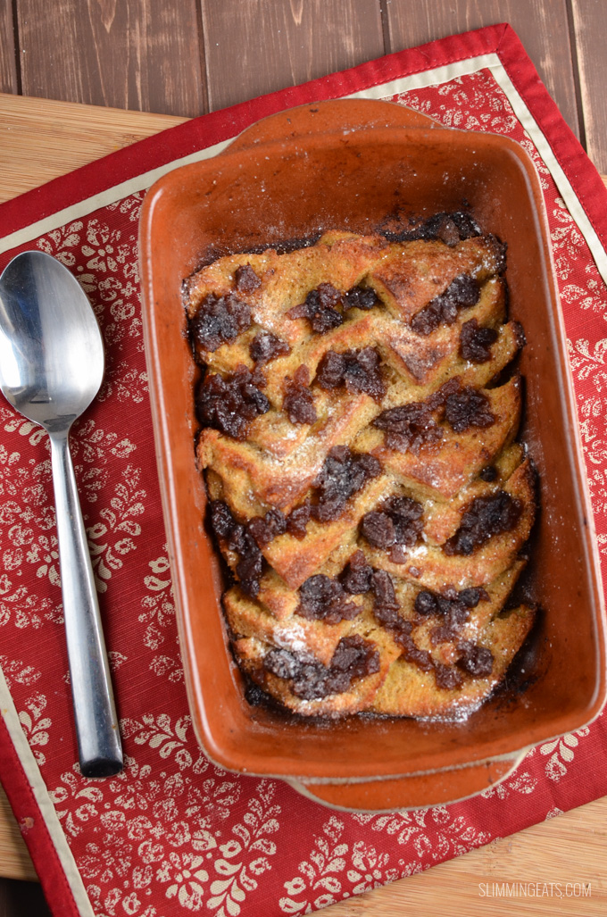 Slimming Eats Christmas Mince Pie Bread Pudding - dairy free, vegetarian, Slimming World and Weight Watchers friendly