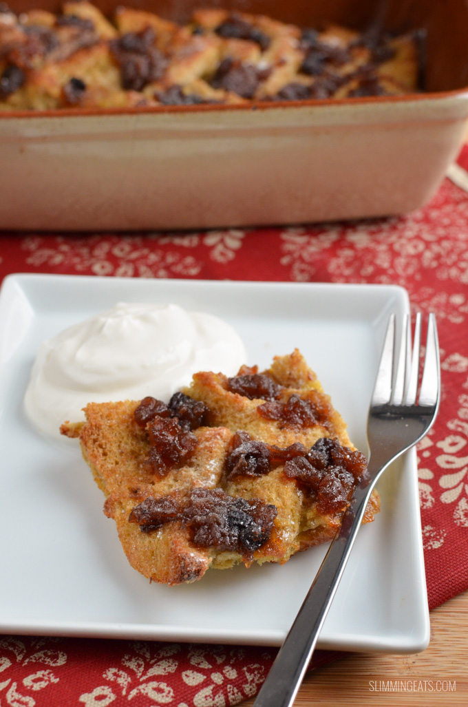 Christmas Mince Pie Bread Pudding | Delicious Slimming World Recipes