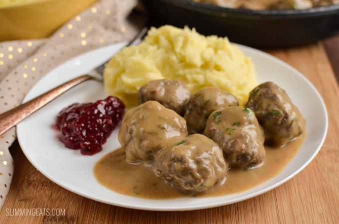 Slimming Eats Swedish Meatballs and Gravy - gluten free, Slimming World and Weight Watchers friendly
