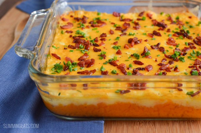 Slimming Eats Syn Free Layered Mashed Potato Casserole - gluten free, vegetarian, Slimming World and Weight Watchers friendly
